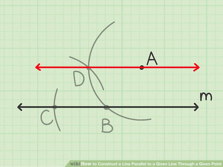 Draw a line through the first and fourth vertices of the rhombus.