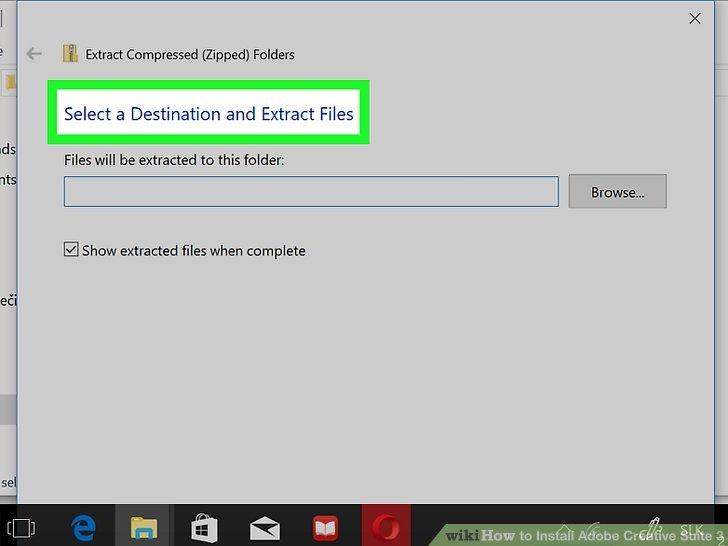 Extrahieren Sie die Dateien.