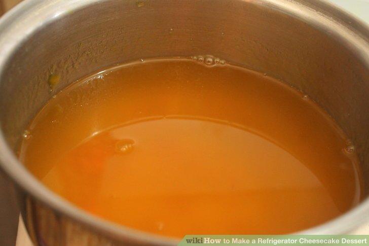 Dissolve gelatin in boiling water.