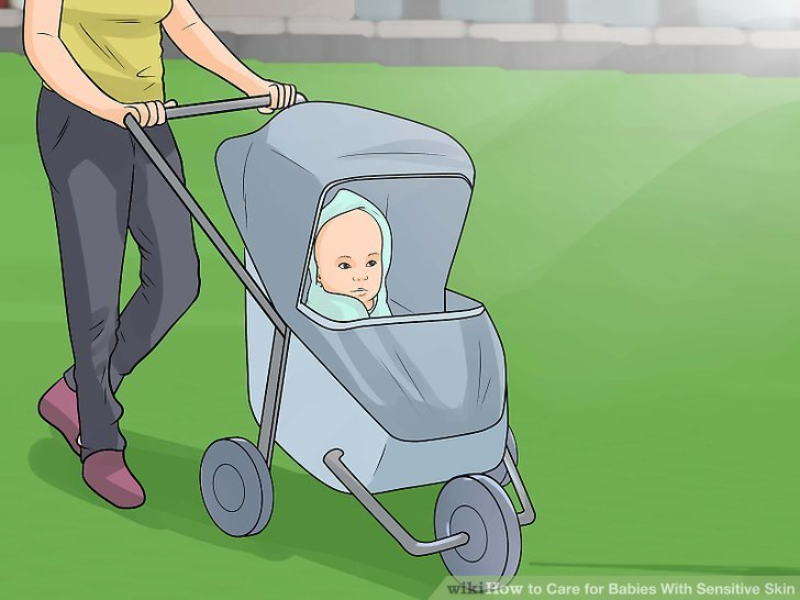 Halten Sie Ihr Baby von der Sonne fern.