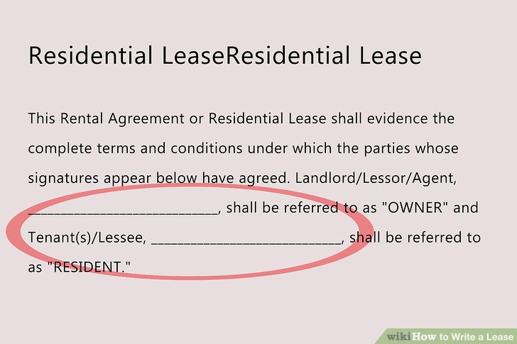 How to Write a Lease: 12 Steps (with Pictures) - wikiHow