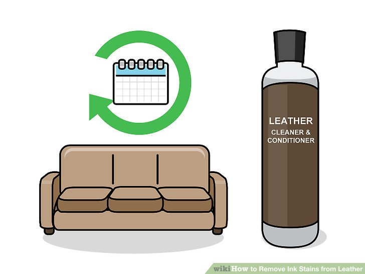 how to get rid of ink marks on leather sofa good quality beds sydney 3 ways remove stains from wikihow image titled step 13