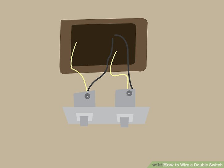 Double Light Switch Wiring Cable From The Switch Gang