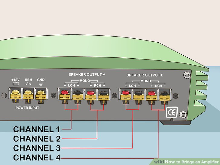 kenwood home stereo wiring diagram chrysler sebring diagrams how to bridge an amplifier: 7 steps (with pictures) - wikihow