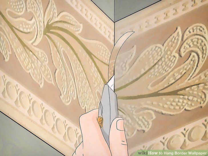 Schneiden Sie die Überlappung doppelt mit einer scharfen Rasierklinge ab.
