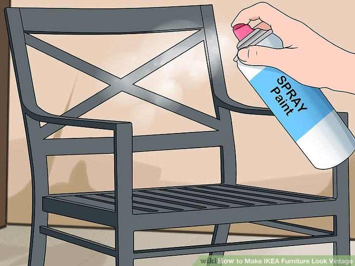 ikea metal chairs wood adirondack how to make furniture look vintage 13 steps with pictures image titled step 1
