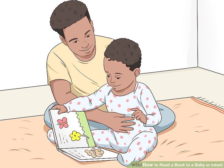 Allow the baby to touch the book.