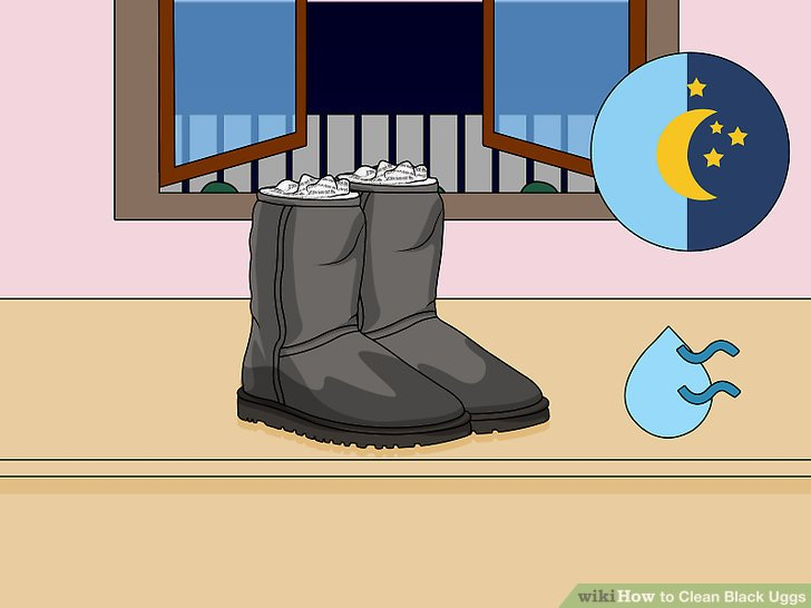 Let the boots dry completely.