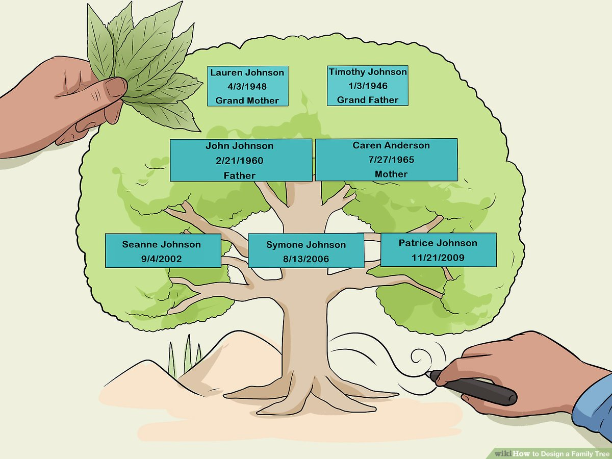 how to design a family tree with