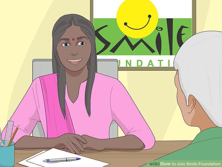 Warten Sie, bis die Smile Foundation Sie bezüglich Ihrer Bewerbung kontaktiert.