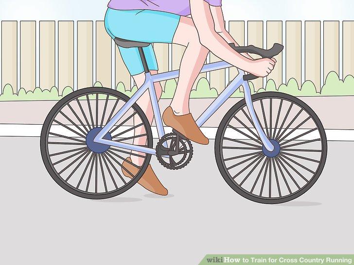 Fahren Sie mit dem Fahrrad, um Ihre Laufgeschwindigkeit zu erhöhen.