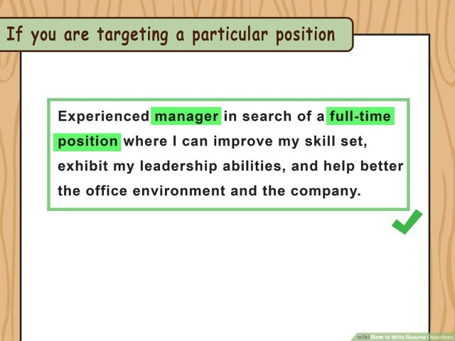 17 Ways to Write Resume Objectives - wikiHow