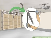 How to Fix a Garage Door Spring (with Pictures) - wikiHow