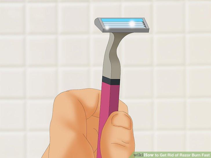 Use a sharp razor.