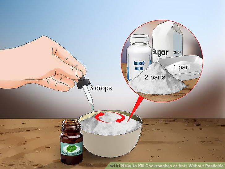 Mix borax with powdered sugar.
