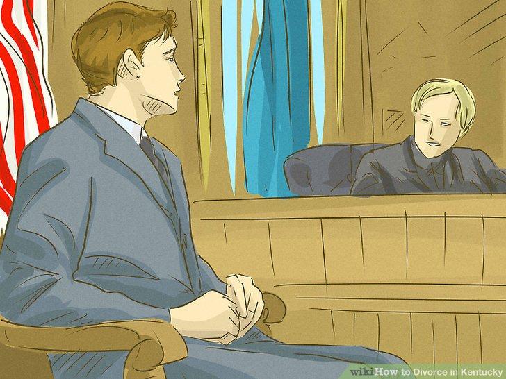 Fahren Sie mit einer endgültigen Scheidung fort.