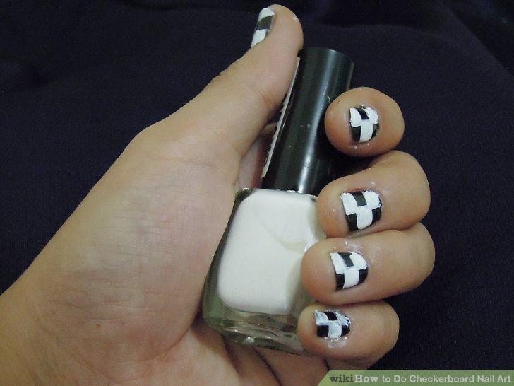 Image Led Do Checkerboard Nail Art Step 7