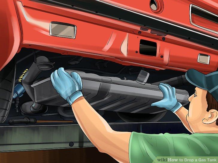 Suchen Sie das Befestigungssystem, das Ihren Kraftstofftank an Ort und Stelle hält.