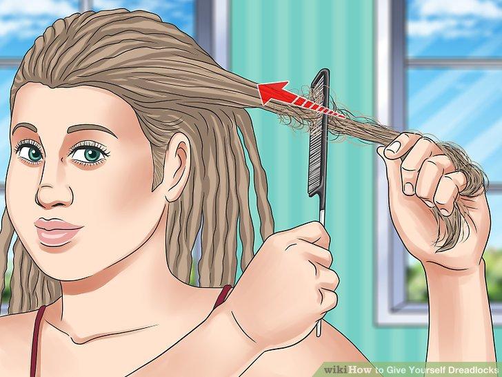 Backcomb das Haar oder wickeln Sie es abschnittsweise um Ihren Finger.