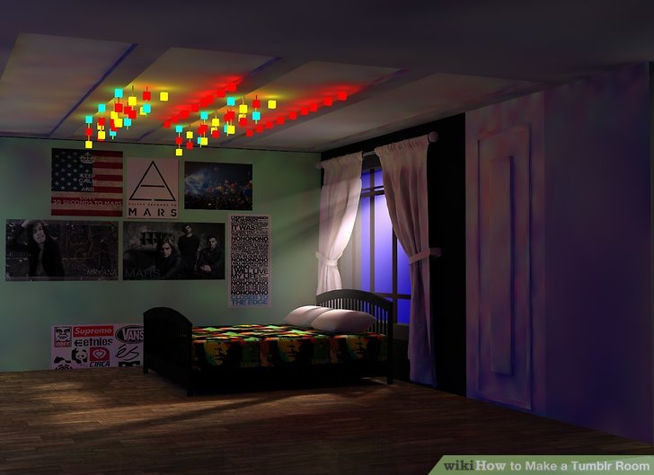 Dark Cozy Girl City Wallpaper How To Make A Tumblr Room With Pictures Wikihow