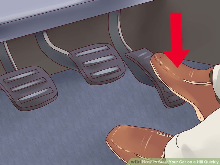 Press the clutch down just enough to allow the engine to return to normal idle speed.