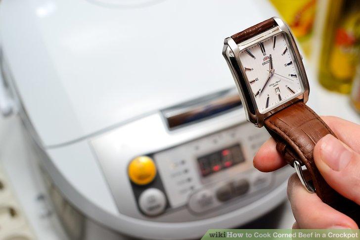 Stellen Sie einen Timer so ein, dass er entweder 1,5 Stunden (niedrig) oder 45 Minuten (hoch) startet, bevor die gesamte Garzeit abgelaufen ist.