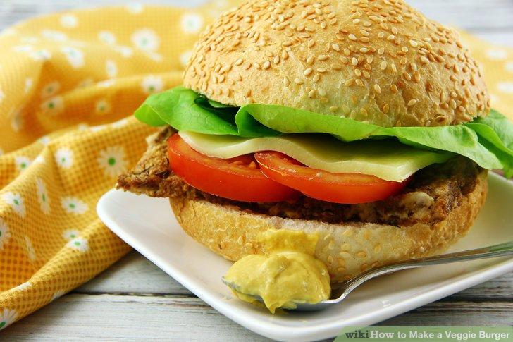 Serve the tempeh burgers.