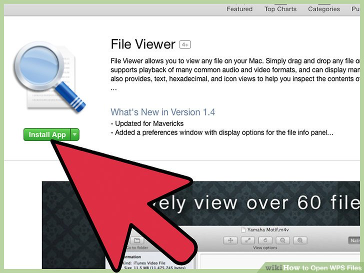 """Click on the file viewer app of your choice, then click on """"Install app."""