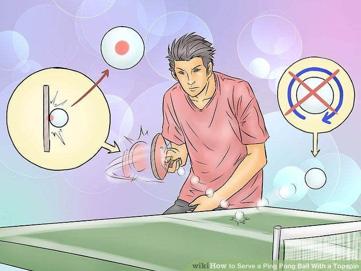 Serve a ball with no spin.