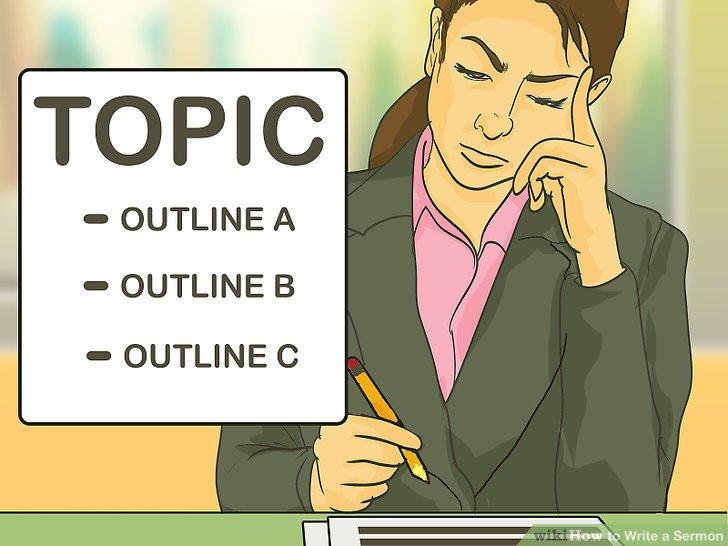 Stellen Sie sich ein Thema so vor, dass es drei einfache Teile in der Nachricht oder Lektion wie eine dreiteilige Gliederung enthält.