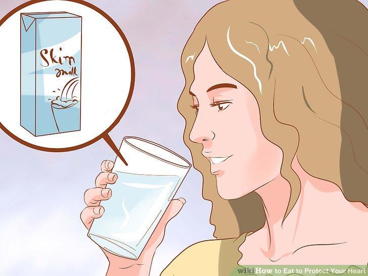 Kontrollieren Sie Ihre Fettaufnahme mit fettarmen Milchprodukten.