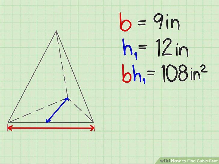 """Multipliziere die """"Basis"""" des Bodens mit seiner """"Höhe"""" und dividiere durch zwei."""