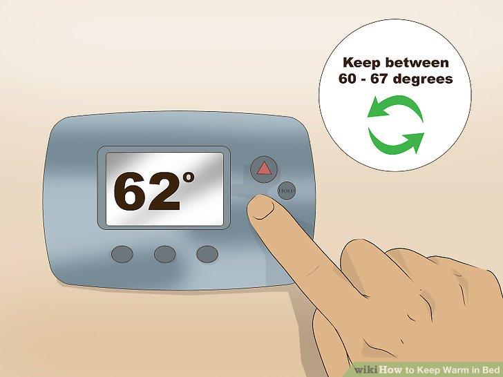 Halten Sie Ihren Raum zwischen 60 und 67 Grad.