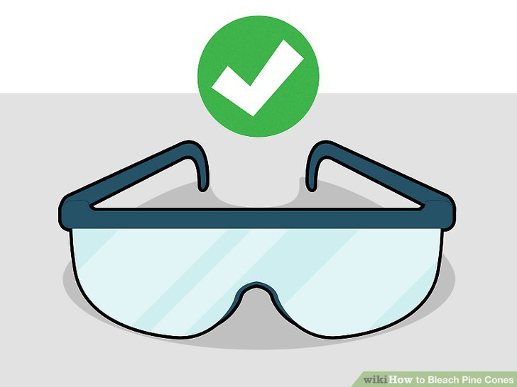 Wear protective glasses, especially when pouring the bleach into the water.