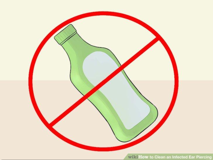 Alkol ve hidrojen peroksit ovmaktan kaçının.