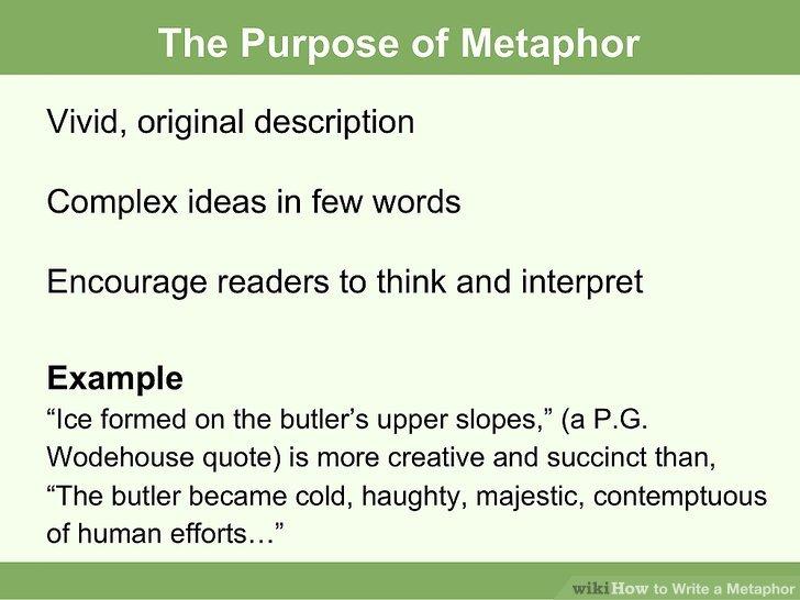 How To? - How to Write a Metaphor