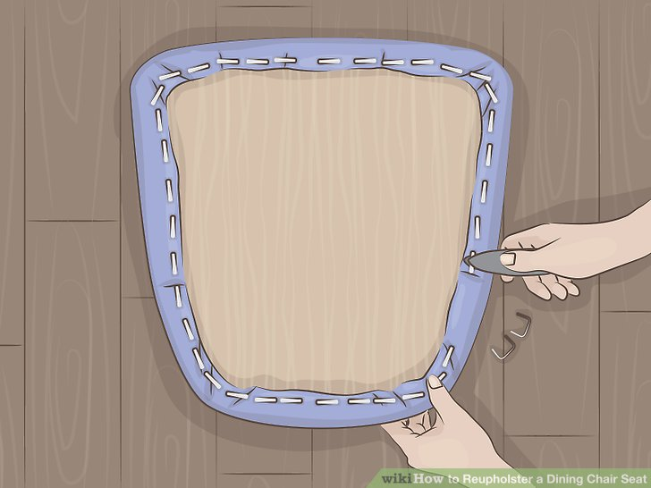 reupholster dining chair design photo how to a seat with pictures wikihow image titled step 2