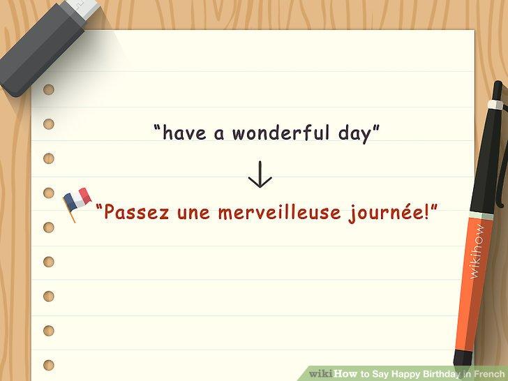 "Angebot ""Passez une merveilleuse journée!"