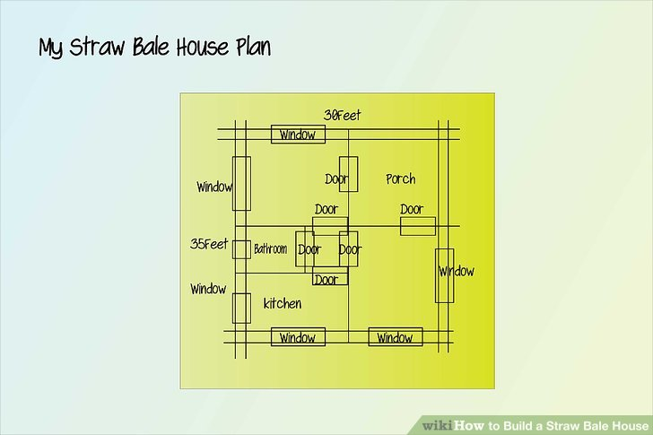sewer diagram for house bell door entry systems wiring how to build a straw bale house: 9 steps (with pictures) - wikihow