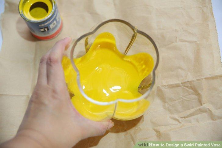 Lassen Sie die Farbe viel Zeit zum Trocknen.