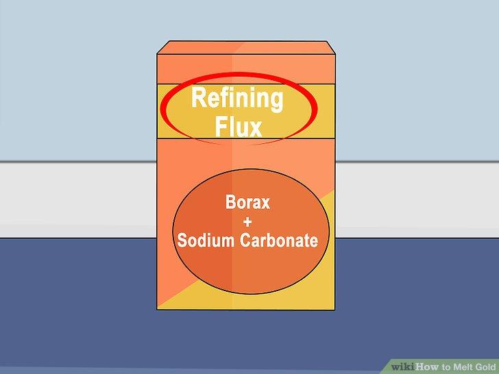 Verwenden Sie Flussmittel, um Verunreinigungen aus dem Gold zu entfernen.