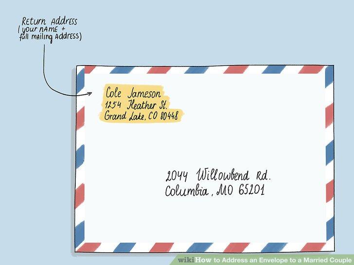 Geben Sie Ihre Absenderadresse in die obere linke Ecke des Umschlags ein.