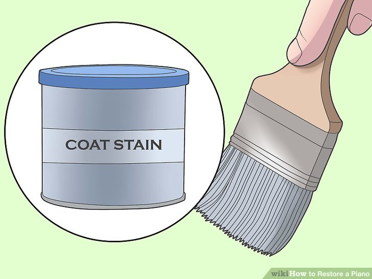 Apply the first coat stain.