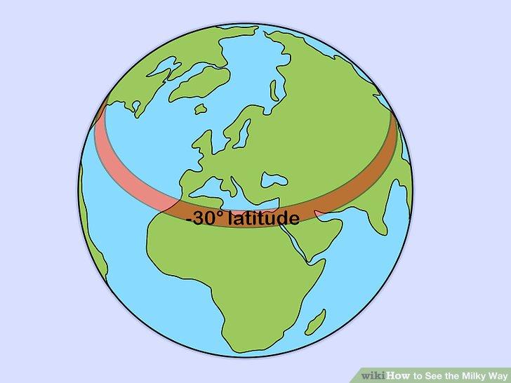 Besuchen Sie ein Gebiet, das um -30 ° geografisch liegt.