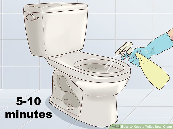 Allow the cleaning solution to sit for 5-10 minutes.