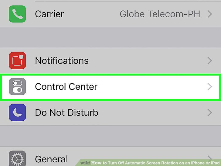 How to turn off automatic screen rotate on iphone 5s 13