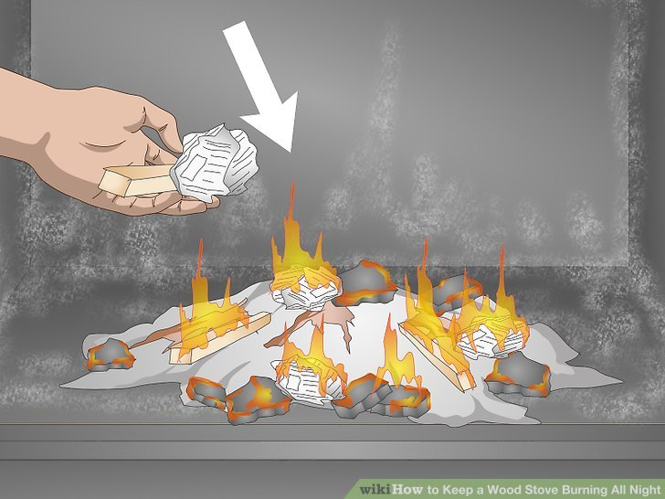 Add a small amount of kindling if most of the coals are no longer hot.
