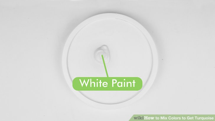 Mischen Sie die Farben.