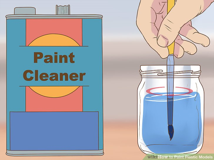 Clean your brushes using paint cleaner.