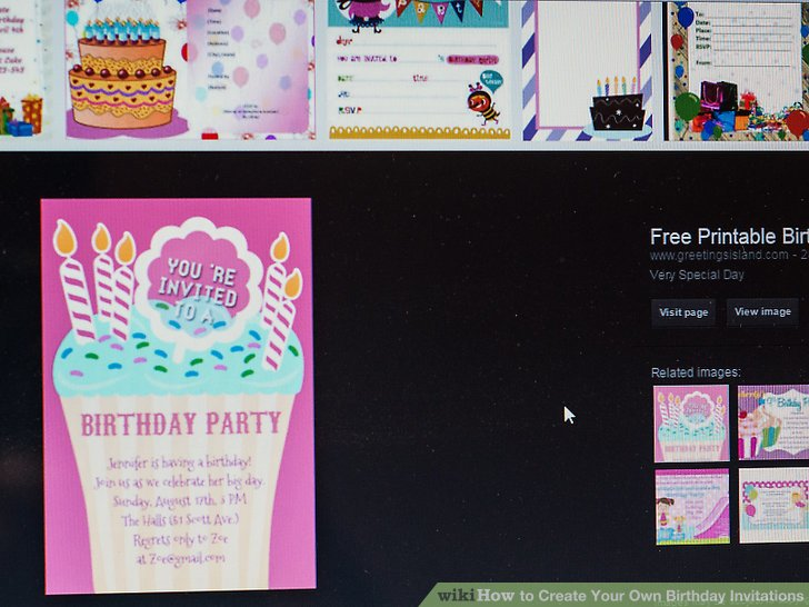 Image Led Create Your Own Birthday Invitations Step 13